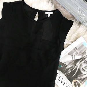 Joie Rancher Silk Black Blouse NWT ✨